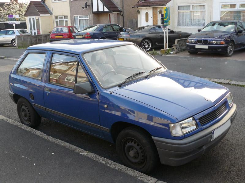 Vauxhall Nova. a blue Vauxhall Nova 1.2i